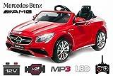 Lizenz Kinderauto Mercedes - Benz S63 AMG 2 x 35W 12V MP3 RC...