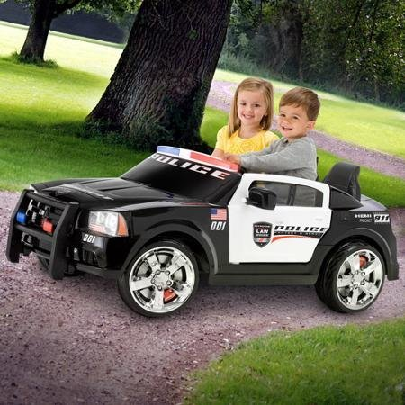 KidTrax Dodge Pursuit Police Car 12-Volt Battery Power Electric Ride-On| KT1081i (Ride On Battery Car compare prices)