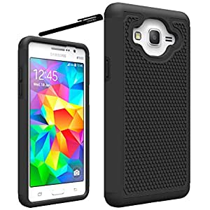 Galaxy On5 Case, OEAGO Samsung Galaxy On 5 Case Cover Accessories - Shock-Absorption Dual Layer Defender Protective Case Cover For Samsung Galaxy On5 G550 (2015 Release) - Black