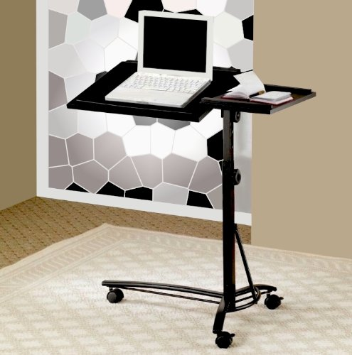 Buy Low Price Comfortable Laptop Computer Stand With Section For Mouse, Swivel And Adjustable Height In Cappuccino Finish. (Item# Vista Furniture CF800215) (B004YMV3TM)