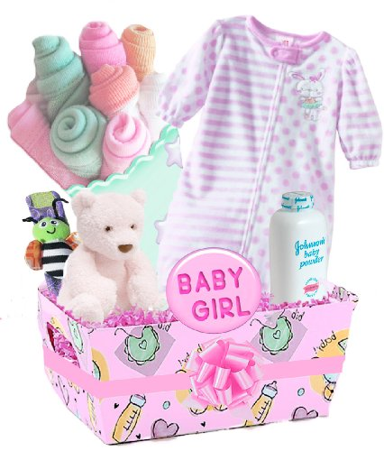 "Best Baby Boutique ""Pretty in Pink"" Deluxe Baby Girl's Gift Basket, Pink  Review"