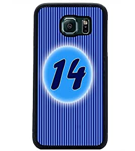 PrintDhaba Numerology Number 14 D-2570 Back Case Cover for SAMSUNG GALAXY S6 (Multi-Coloured)