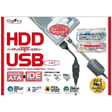 HDDをUSB SATA&IDE-USB2.0変換アダプタケーブル UD-500SA