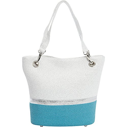 magid-paper-straw-metallic-stripe-colorblock-small-tote-blue