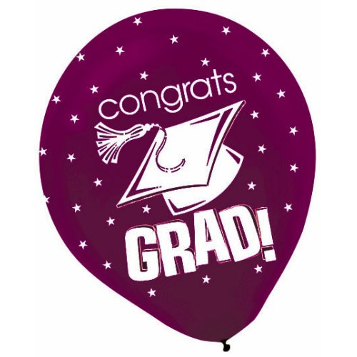 Congrats Grad Berry 12in Balloons 20ct