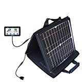 Gomadic SunVolt Powerful and Portable Solar Charger suitable for the Garmin dezl 760 LMT - Incredible charge speeds for up to two devices