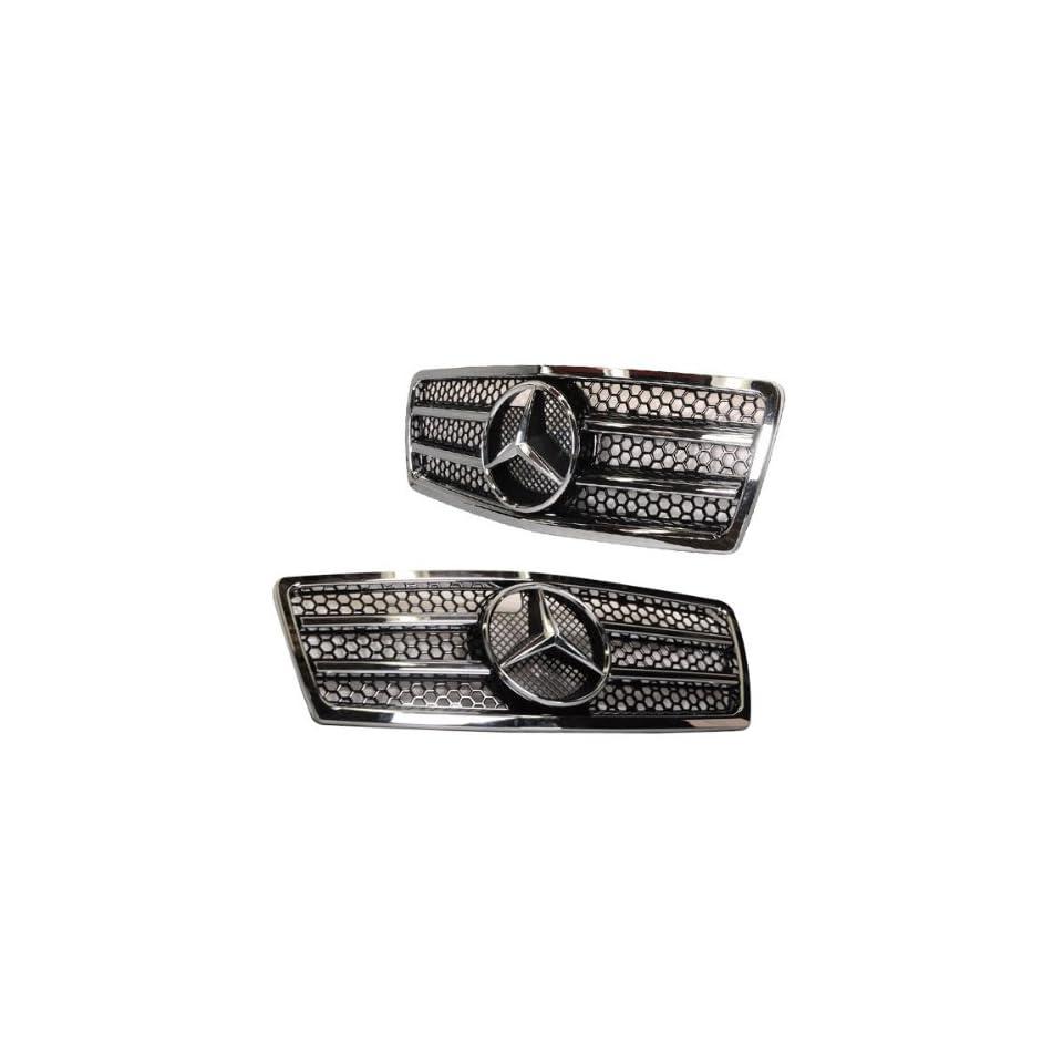 94 00 Mercedes Benz W202 C Class Front Hood Grille Black +Authentic Star Emblem