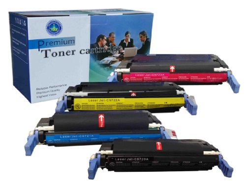 4 Pack V4INK ® Remanufactured HP C9720A C9721A C9722A C9723A Toner Cartridge for HP Color LaserJet 4600/4600n/4600dn/4600dtn/4600hdn/49610n/4650/4650n/4650dn/4650dtn/4650hdn