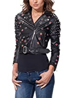 DROLE DE COPINE Chaqueta Biker With Holes And Shoulder Studs (Negro)
