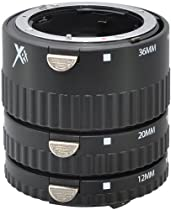 Xit XTETN Auto Focus Macro Extension Tube Set for Nikon SLR Cameras (Black)