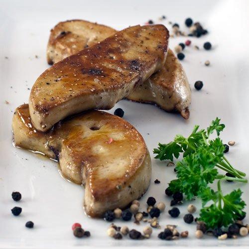 Slices of Fresh Duck Foie Gras - Flash Frozen - 1.75 oz slices - 1 bag, 20 1.75 oz slices