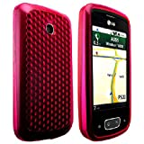 CellBig Smashing Hot Pink Diamond Gel Case Cover Pouch Mask Pocket Wallet Shell For Your LG Optimus One P500 P503