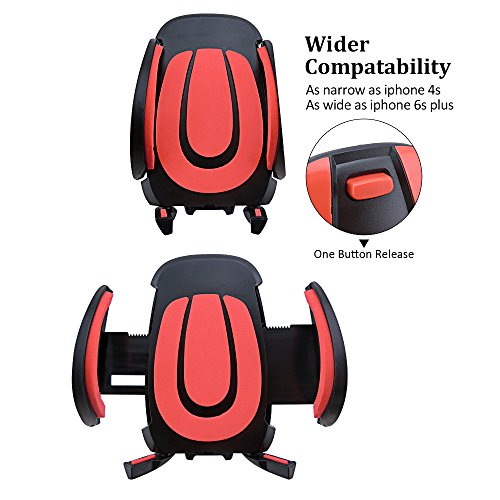 Bike & Car Cell Phone Mount – LSoug Bike Handlebars Cradle Mount, Car Holder for Any Smart Phone iPhone 6s /6 (+), 5s, 5, 5SE, Samsung Galaxy Note Nexus, Nokia Lumia, LG