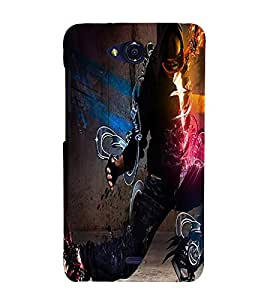 Perfect print Back cover for Miromax Canvas Play Q355
