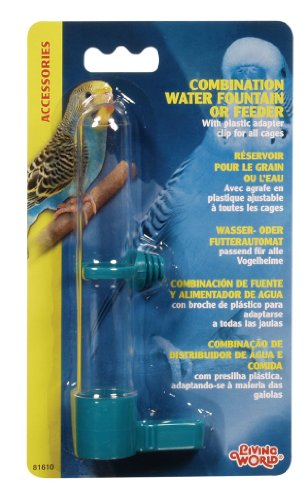 Living World Combo Waterer and Feeder, Small (Water Dish For Bird Cage compare prices)