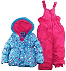 Pink Platinum Little Girls 4-6X All Over Hearts Two Piece Snowsuit Set