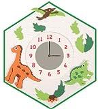 Bastelset 3-D Uhr / elektrische Wanduhr / Uhr - Dino Junge grün Tiere - incl. Namen hergestellt von Nestler