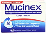 Mucinex Maximum Strength Extended-Release Bi-Layer Tablets, 42 Count