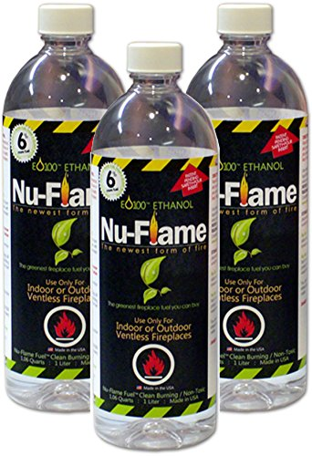 Find Cheap Nu-flame Liquid Ethanol Fireplace Fuel, 1-liter Bottle, 3-pack
