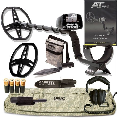 Garrett At Pro Metal Detector W/8.5 X 11 Dd Coil & Cover Adventure Pk Pro-Pointer Dvd W/Must Have Accessories