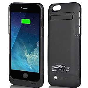 "For iphone 6 Black 3500mAh External Battery 4.7"" Case Charger Portable Charger Battery Back Up Power Bank Rechargeable Power Case with Stand 4.7inch for iphone 6"
