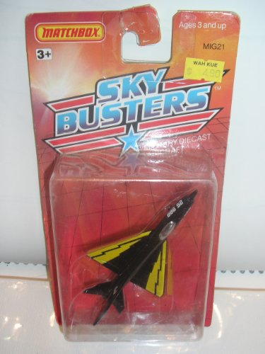 Matchbox Metal Sky Busters 1989 MIG21 #1 Military Die Cast Aircraft