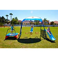 IronKids 8104 Cooling Mist Inspiration 250XL Fitness Playground Metal Swing Set (Blue)
