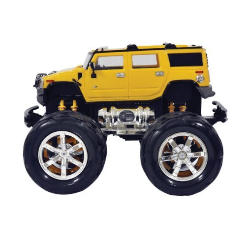 1/26 Scale Hummer Toy Car (Monster Truck Style Wheels, Yellow) - 1:26 Scale Hummer with Monster Truck Wheels, Yellow Size 0