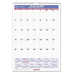 AT-A-GLANCE Wall Calendar 2017, Monthly, 12 x 17\