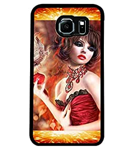ColourCraft Beautiful Girl Design Back Case Cover for SAMSUNG GALAXY S6 EDGE