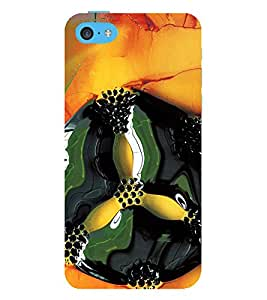 printtech Floral Design Abstract Back Case Cover for Apple iPhone 5S