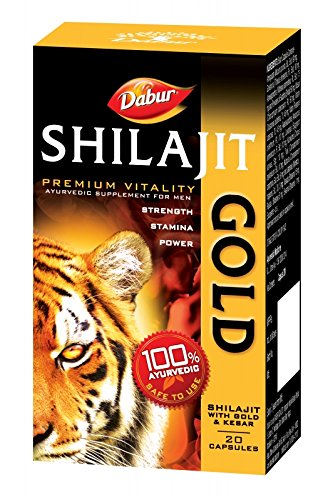 Dabur Shilajit Gold   20 caps   for strength, stamina  amp; power available at Amazon for Rs.250