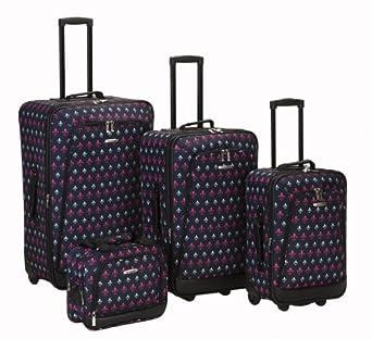 Rockland Luggage Garden 4 Piece Luggage Set, Icon, One Size