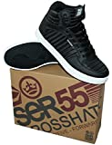 Crosshatch Men's Gyanda Black Hi Top Trainers Shoes