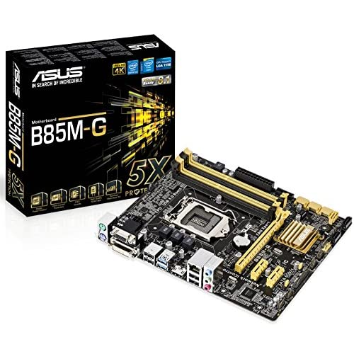 ASUSTeK Intel B85チップセット搭載マザーボード 5X Protection B85M-G 【MATX】