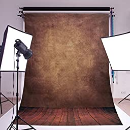 Mohoo Silk 5X7ft Photography Background Backdrop Studio Photo Props Concrete Wall Floor (Updated Material)