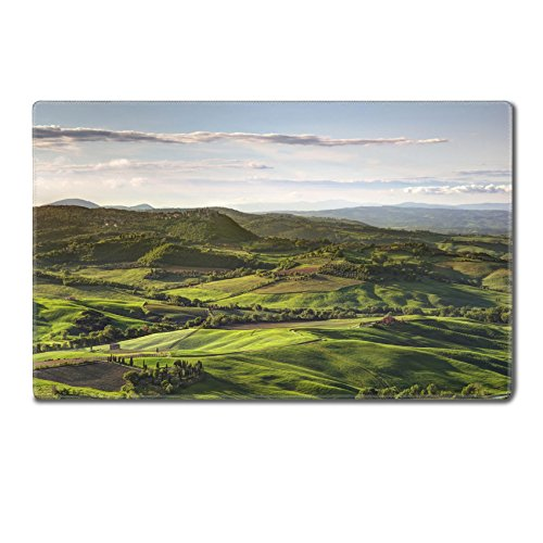 Luxlady TableMats Mousepad 24 x 15 x 0.2 inches vintage tuscany landscape on evening lighting IMAGE 28112598 Customized Art Home Kitchen