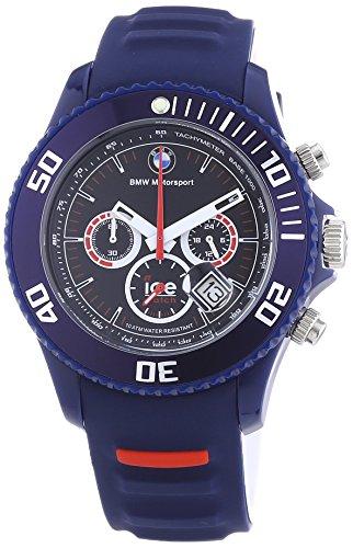Ice-Watch Herren-Armbanduhr XL BMW Motorsport Chrono Dark Blue Chronograph Quarz Silikon BM.CH.DBE.B.S.13