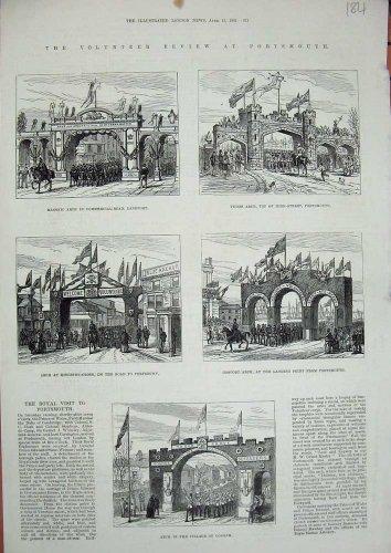 Portsmouth 1882 Arch Cosham Gosport Masonic Tudor