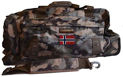 Borsa Borsone Trolley Napapijri Tracolla Uomo Men Bag Donna Viaggio Palestra Camouflage N5Z29
