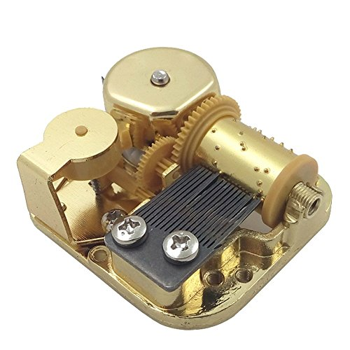 Helen Zora 18 Note Windup Gold Plating Clockwork Mechanism DIY Music Box Movement (Elfen Lied)