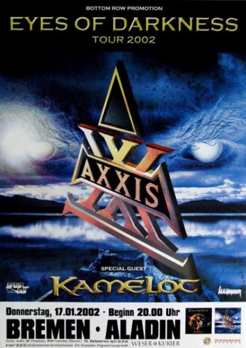 Axxis - 2002 - concerto Poster - 2002 - Tour Poster - Concert - Kamelot