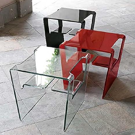 Tavolini da salotto in vetro curvato - Target Point Proteo TLC11