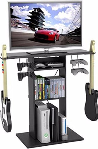 Video Game Storage Xbox Nintendo Ds Central TV Stands For Flat Screens Game Room Station Rock Band (Game Central Stand compare prices)