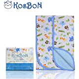 """Kosbon Extra Large (40"""" X 30"""") Infant Baby Deluxe Flannel And Bamboo Fiber Cotton Change Pad,Waterproof Cartoon... - B014KVSO0M"""