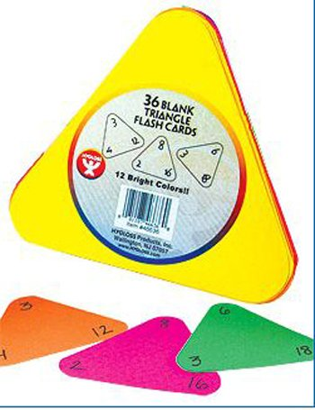 Hygloss Products Inc. Triangle Flash Cards 5 1/2 12 Color