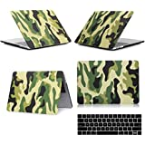 "Generic For Macbook Pro 13"" A1706 : UK Flag : US/UK Flag Camouflage Pattern Rubberized Hard Case For Macbook Pro..."