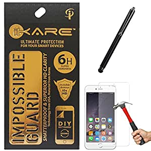 iKare Front Back Fiber Glass Screen Protector for Apple iPhone 6 6s 4.7in + Touch Screen Stylus