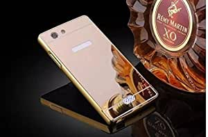 Back Cover Case For Oppo Neo 5 - Gold With Free Key Ring