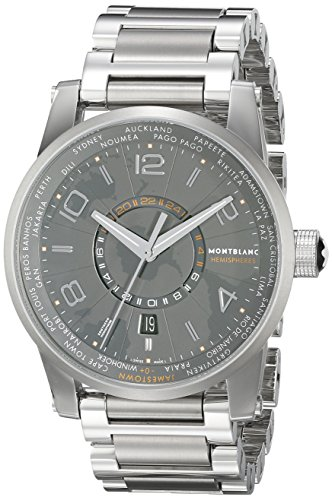 Montblanc-Timewalker-World-Time-Southern-Hemispheres-Mens-Stainless-Steel-Swiss-Automatic-Watch-108956
